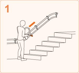 階段を上がる時|ステップ1