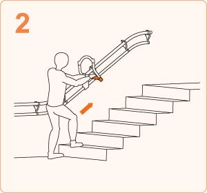 階段を上がる時|ステップ2